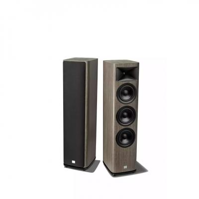 JBL 2.5-Way Floorstanding Loudspeaker With Triple 6.5 Inch Black Aluminum Cone In Grey Oak  - JBLHDI3600WALAM