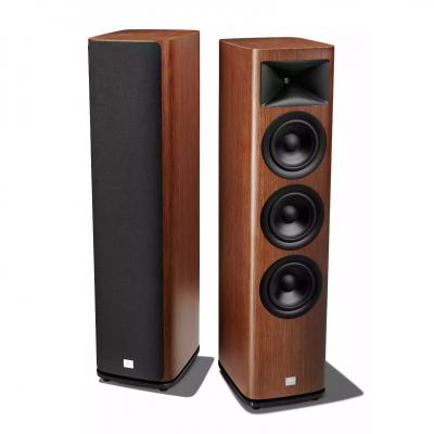 JBL 2.5-Way Floorstanding Loudspeaker With Triple 6.5 Inch Black Aluminum Cone In Walnut  - JBLHDI3600WALAM