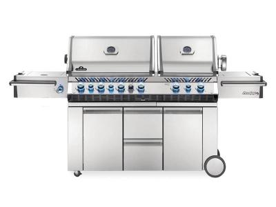 "94"" Napoleon Prestige PRO 825 Propane Gas Grill With Power Side Burner, Infrared Rear And Bottom Burners - PRO825RSIBPSS-3"