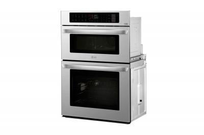 "30"" LG 1.7/4.7 cu. ft. Smart Wi-Fi Enabled Combination Double Wall Oven - LWC3063ST"