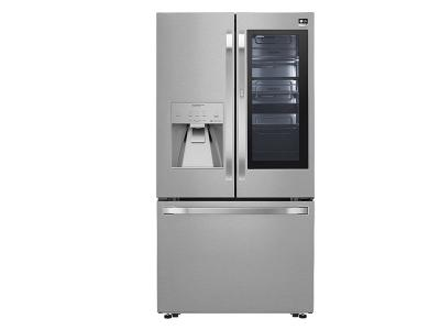 "36"" LG STUDIO 24 cu. ft. InstaView Door-in-Door  Counter-Depth Refrigerator - SRFVC2406S"