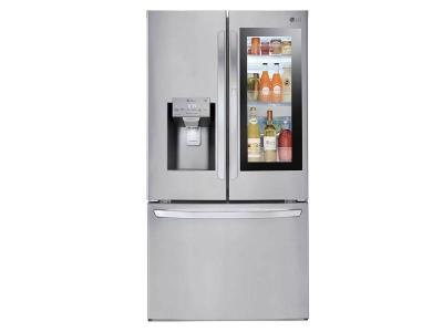 "36"" LG 28 Cu.Ft Smudge Resistant Refrigerator With InstaView Door-in-Door, Dual Ice Maker  - LFXS28596S"