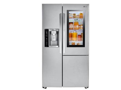 "36"" LG 22 Cu.ft Door-in-Door Side-By-Side Counter-Depth Refrigerator - LSXC22396S"