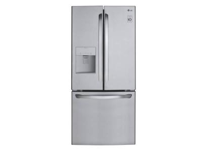"""30"""" LG 22 Cu. Ft  French Door Refrigerator With Smart Cooling System - LFD22786ST"""