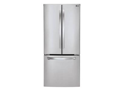 """30"""" LG 22 Cu.ft French Door Refrigerator with Smart Cooling System - LFNS22520S"""