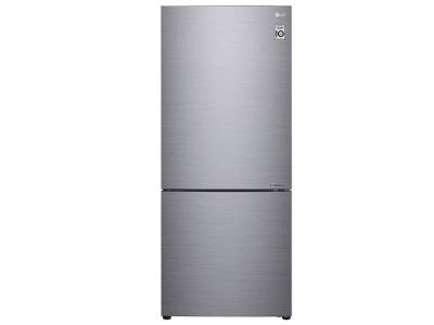 "28"" LG 15.Cu.ft  Counter Depth Bottom Freezer With Door Cooling and Flip-up Shelf  - LBNC15231V"
