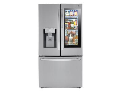 "36"" LG InstaView Door-in-Door with Craft Ice Maker French Door Refrigerator - LRFVS3006S"