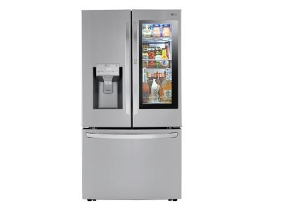 "36"" LG 3-Door French-Style Smart Refrigerator with InstaView Door-in-Door  - LRFVC2406S"