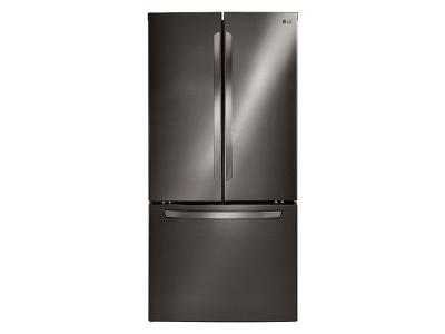 """33"""" LG  Black Stainless Steel French Door Refrigerator with Smart Cooling System, 24 cu.ft. - LFC24786SD"""