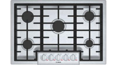 """30"""" Bosch Benchmark 5 Burner Gas Cooktop In Stainless Steel - NGMP056UC"""