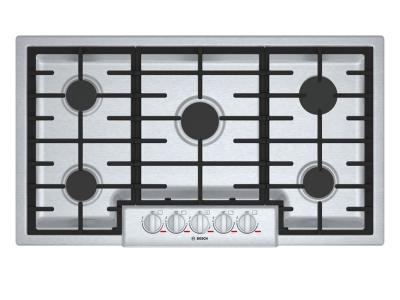 """36"""" Bosch Benchmark 5 Burner Gas Cooktop In Stainless Steel - NGMP656UC"""