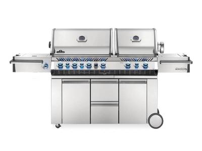 "94"" Napoleon Prestige PRO 825 Natural Gas Grill with Power Side Burner, Infrared Rear & Bottom Burners - PRO825RSBINSS-3"