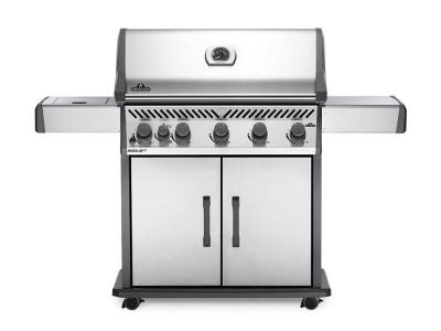 """66"""" Napoleon Rogue Propane Gas Grill with Infrared Side Burner - RXT625SIBPSS-1"""