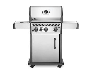 """51"""" Napoleon Rogue XT 425 Natural Gas Grill with Infrared Side Burner - RXT425SIBNSS-1"""