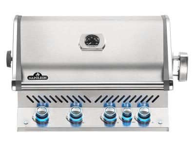 """33"""" Napoleon Prestige PRO Series Built-In Propane Grill With Infrared Rear Burner - BIPRO500RBPSS-3"""