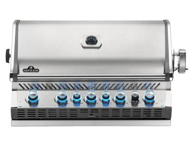 "42"" Napoleon Prestige PRO Series Built-In Natural Gas Grill With an Infrared Rear Burner - BIPRO665RBNSS-3"