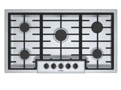 """37"""" Bosch 500 Series Gas Cooktop With 5 Burner - NGM5656UC"""