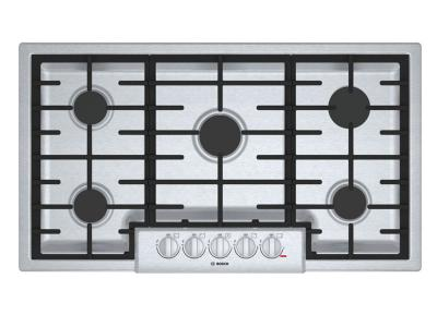 """37"""" Bosch 800 Series Gas Cooktop With 5 Burner - NGM8656UC"""