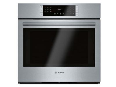 """30"""" Bosch 4.6 Cu. Ft. 800 Series Single Wall Oven Stainless steel - HBL8453UC"""