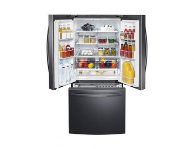"30"" Samsung French Door Refrigerator with Freezer Located Ice Dispenser - RF220NFTASG"