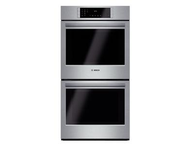 "27"" Bosch Double Wall Oven 800 Series - Stainless Steel HBN8651UC"