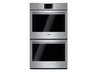 "30"" Bosch Double Wall Oven 500 Series - Stainless Steel HBL5651UC"