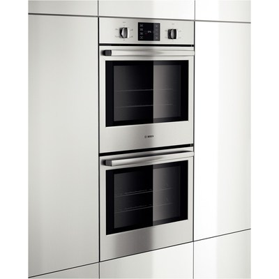 """30"""" Bosch Double Wall Oven 500 Series - Stainless Steel HBL5551UC"""