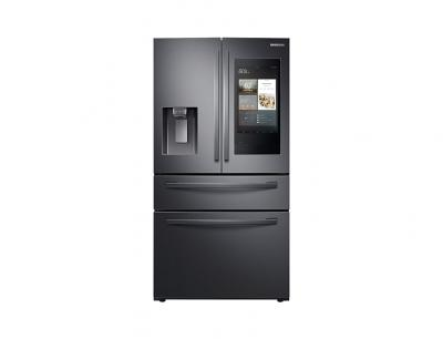 """36"""" Samsung 28 Cu. Ft. French Door Refrigerator With Touch Screen Family Hub - RF28R7551SG"""