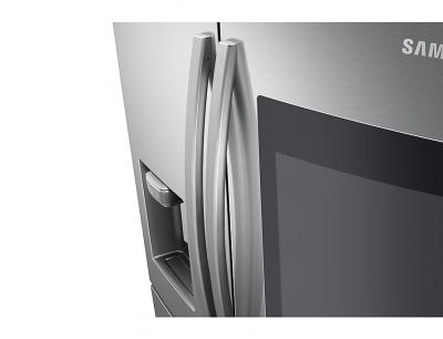 """36"""" Samsung 28 cu. ft. French Door Refrigerator With 21.5"""" Touch Screen Family Hub - RF28R7551SR"""